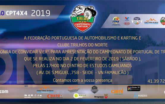 CPT 4×4 2019 apresentado em Famalicão